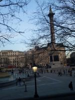 Trafalgar Square with Nelson statue by Saliona93