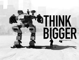 Think Bigger 4:3 by qwertyDesign