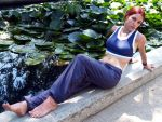 Lara Croft gym suit cosplay by TanyaCroft