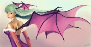 Morrigan in Painting by aLDoDarK