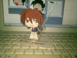 kenshin himura papercraft by Grim-paper