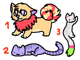 Name Your Price Adoptables by MilkaAdoptions