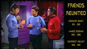 Friends Reunited   Spock, Scotty, and Bones by gazomg