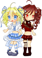 Group mascots -Amy and Emily by criis-chan