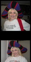Posing in my Frollo hat by ChristineFrollophile