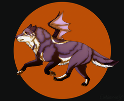 Halloween wolf by CatherineSt