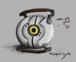 GLaDOS Curiousity Eye by FallenAngelV