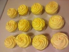 Golden Yellow Cupcakes by missblissbakery