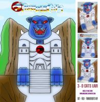 Thundercats - 3-D Cats Lair by mikedaws
