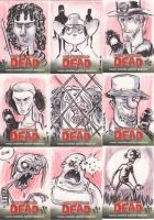 Walking Dead Sketch Cards 2 by JeffVictor