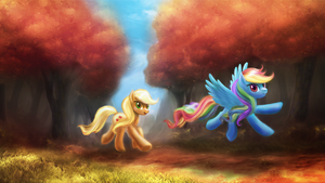 Fall Weather Friends by macalaniaa