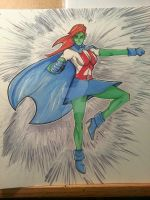 DC 52 Weekly Sketch - Martian Girl (Young Justice) by PhillipQHudson