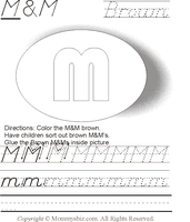 Mommysbiz | M  M-N-M-Brown Preschool Worksheet by DanaHaynes