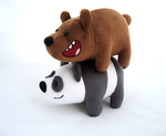 Panda and Grizz by PlanetPlush