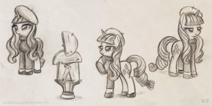 Beatnik Rarity sketches by KP-ShadowSquirrel