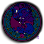 Luna Stained Glass line art by Icyfox57