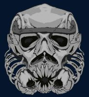 Stormtrooper Skull by MartinHanford1974