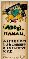 Type face: Adry of Hanabi by Aguiluz