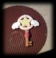 CardCaptor Sakura Star Key. -polymer clay- by bananachi