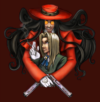 Alucard and Integra Portrait by Amaya-Murahashi
