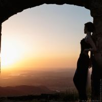 Sunset and Knapp's Castle 5 by PhotoSoCal