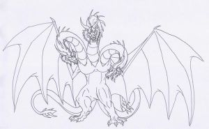 King Ghidorah by Scatha-the-Worm
