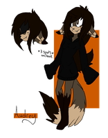 Audrey (Fursona) Reference by Blade-of-Dreams