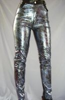 PATENT LEATHER GLITTER PANTS by FRANTASEE