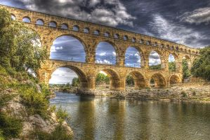 Pont du Gard - HDR by Louis-photos