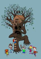 Building A Treehouse by 010001110101
