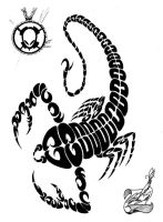 Tribal Scorpian TAT by ALIEN-10