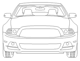 Front Mustang WIP by AmericanWolf016