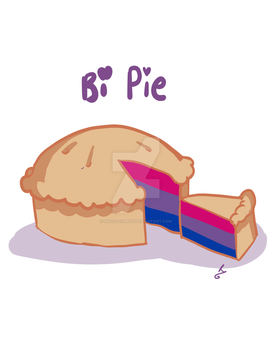 Bisexual Pie Tshirt Design by nyich-comics