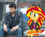 Sunset Shimmer trying to cheer up Sad Keanu GIF by OliveBranchMLP