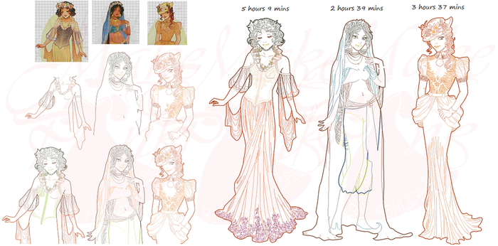 WIP2-Disney Mucha Patterns (Hannah-Alexander) SET5 by pinkythepink