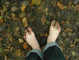 Autumn barefooting 2 by PhilsPictures
