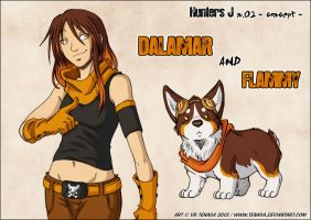 Dalamar and Flammy by Tenaga