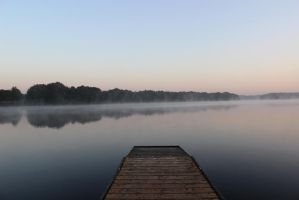 Fog on the lake by 00Kathi