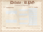A Love Before Time D-RPG Certificate by SWC-arpg