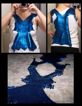 Blue Scale Shirt WIP 4 by MischiefMakers