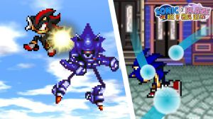 Battle #02 - Sonic and Shadow vs. Mecha Sonic by KingAsylus91