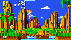 Sonic and Tails - Mock Up 'Cyan Coast Zone Act 2' by MrLevRocks