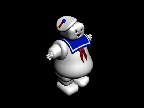 Mr. Stay Puft by JacobLionheart