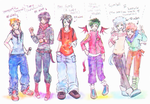 My Gijinka Concept Art - and my cute boys - by KiraiRei