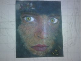 Afghan Girl test piece by thexxxrust