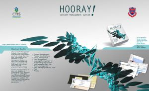 poster presentation for hooray by e-keen
