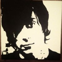 Frank Iero painting by the-house-of-w0lves