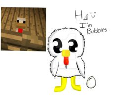 Bubbles the Minecraft Chicken by Dawn7252000