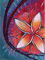Frangipani Water-painting by tattoo-parlour