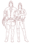 pencils for lady Blaumeux and baron Rivendare by scourge-minion